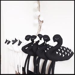 Dekorativa Mjukisdjur - Vit svan