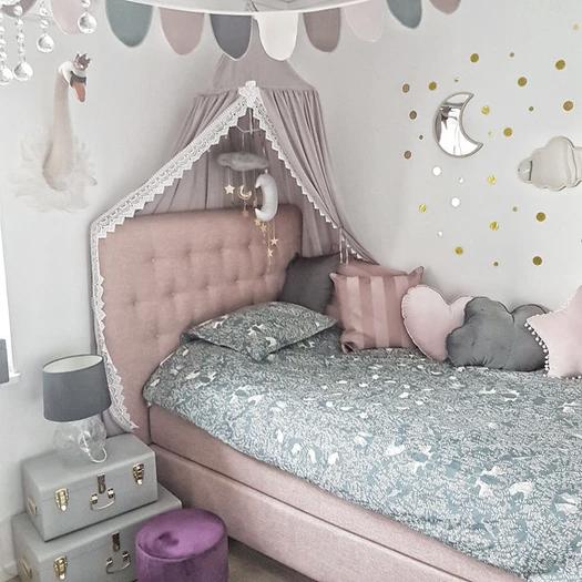 Sänghimmel m. Spets - Rosa