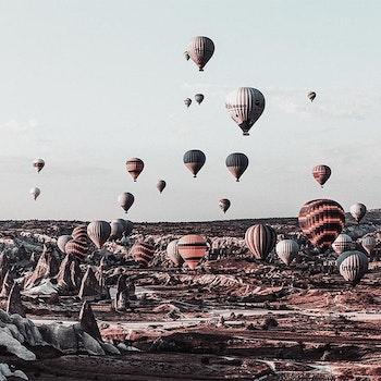 Poster/Konsttryck - Luftballonger