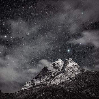 Poster/Konsttryck - Stjärnhimmel på berget