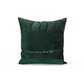 Kuddfodral Love Home - Mossgrön