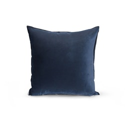 Kuddfodral Sammet - Enkelfärgad Mörkblå