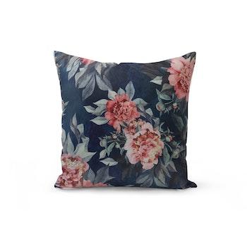 Kuddfodral Sammet - Blommande Rosor