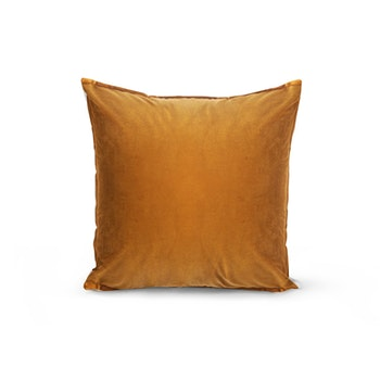 Kuddfodral Sammet - Enkelfärgad Guldig