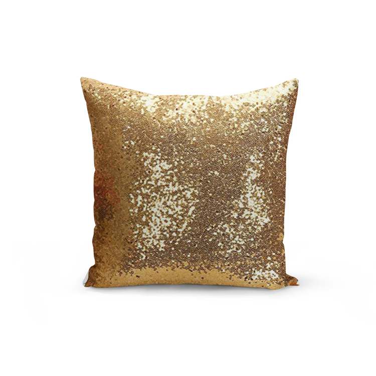 Kuddfodral Paljett- Guld Gul