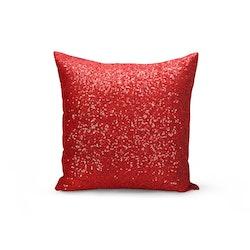 Kuddfodral Paljett- Röd