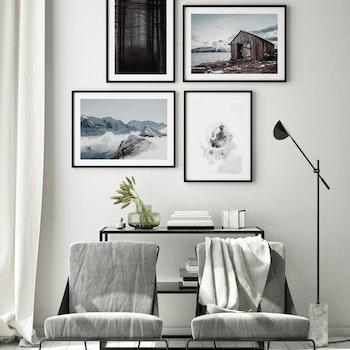 Poster/Konsttryck - Snöklädda Berg