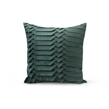 Kuddfodral i sammet - Vågor Grön