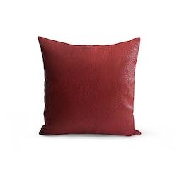 Kuddfodral konstläder - Röd