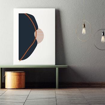 Poster Minimalistisk Kulle