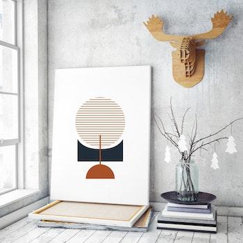 Poster Minimalistisk Cirkel