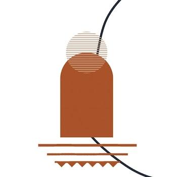 Poster Minimalistisk - RödBrun