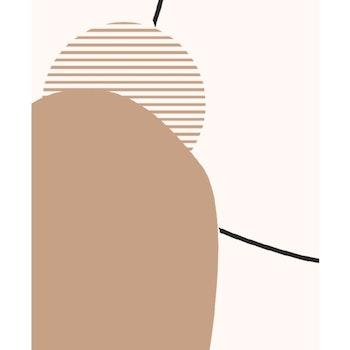 Poster Minimalistiska Former - Beige