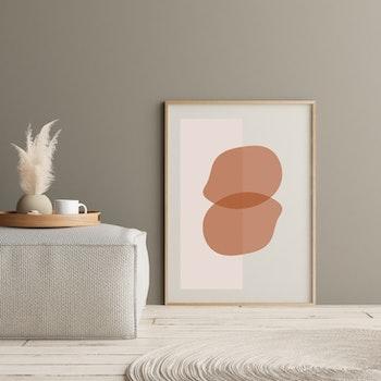 Poster Överlappning Rödbrun