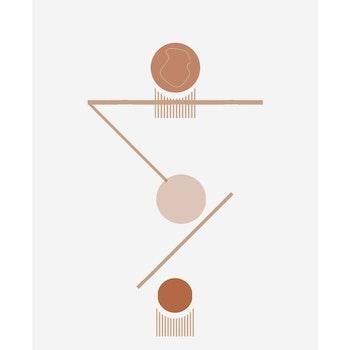 Poster Streck Och Cirklar