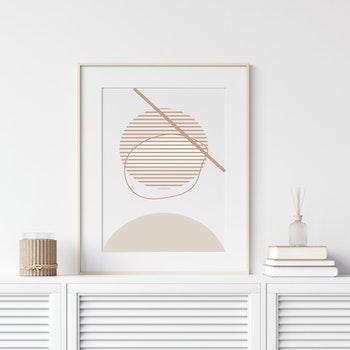 Poster Minimalistisk Ljus
