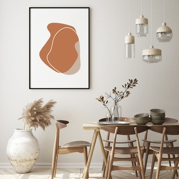 Poster Rödbrun Form