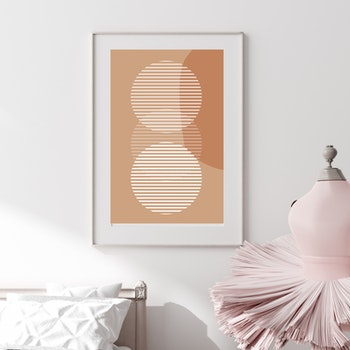 Poster Tre Cirklar - Beige