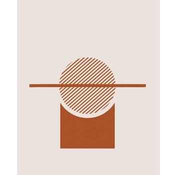 Grafisk poster med motiv - Abstrakt solnedgång