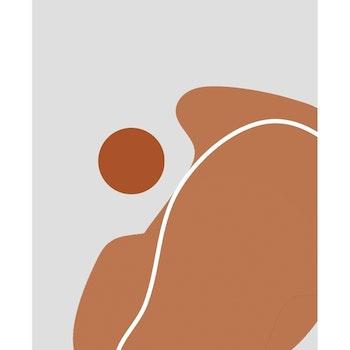 Grafisk poster - Poster Kombination Former