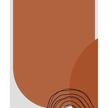 Grafisk poster - Rödbrun växande kraft