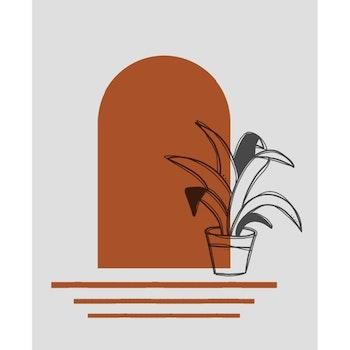 Grafisk poster - Värmens dörr
