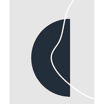 Poster Halvcirkel - Mörk
