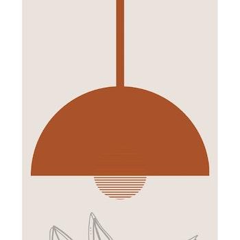Grafisk poster - Abstrakt poster och fat