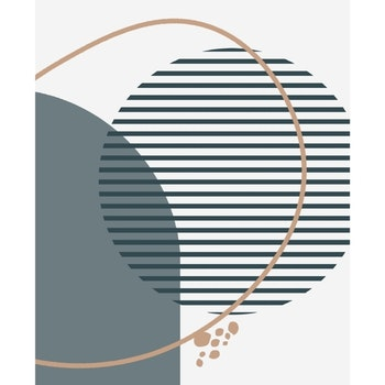 Grafisk poster - Cirkel med grönt