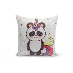 Kuddfodral Paljett- Panda