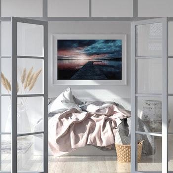 Poster/Konsttryck - Solnedgång vid bryggan