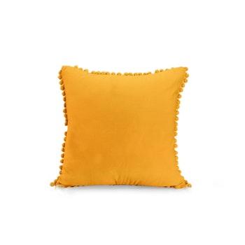 Kuddfodral med Pompoms - Orange