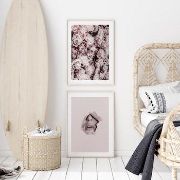 Poster/Konsttryck - Blomsterhav pastell
