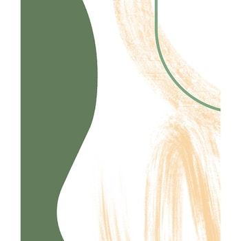 Grafisk poster - Gröna toner