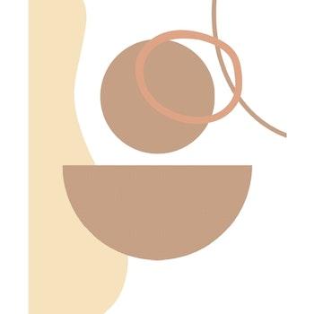 Grafisk poster - Cirkel, halvcirkel och tråd