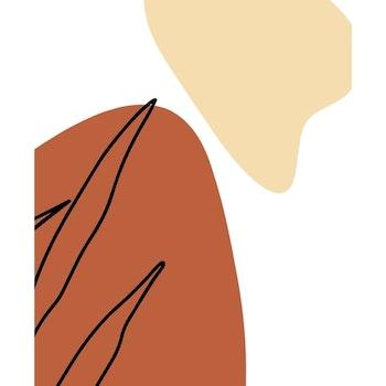 Grafisk poster - Beige och rostrött