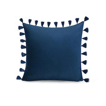 Kuddfodral Tassel- Marin Blå