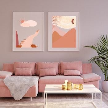 Grafisk poster - Solens stig
