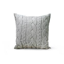 Kabelstickat kuddfodral - Textur