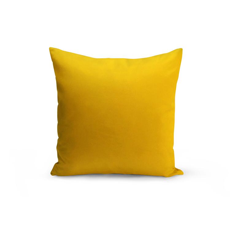 Kudde i sammet enfärgad - Gul