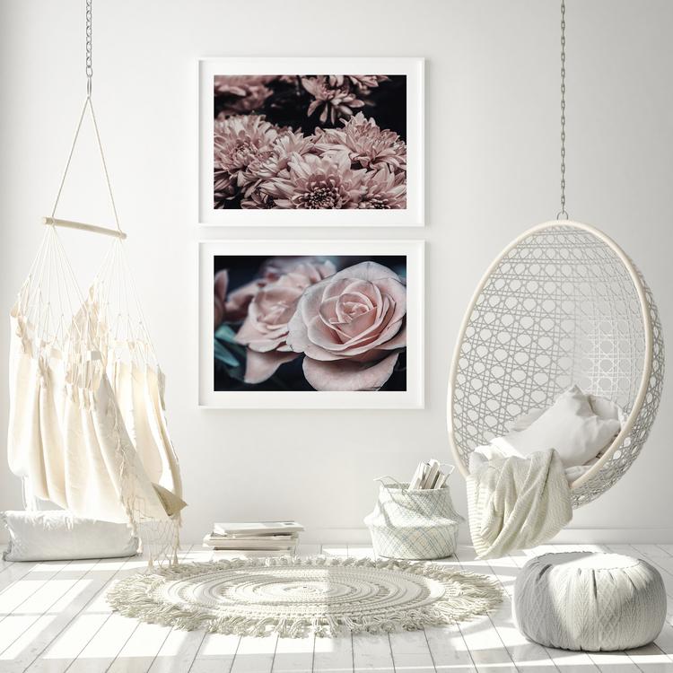 Poster/Konsttryck - Rosa Rosor