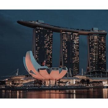 Poster/Konsttryck -  Singapore Närbild