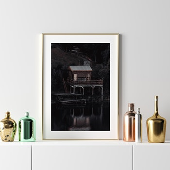 Poster/Konsttryck - Trästuga