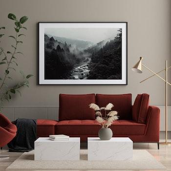 Poster/Konsttryck - Vattendrag i Skogen