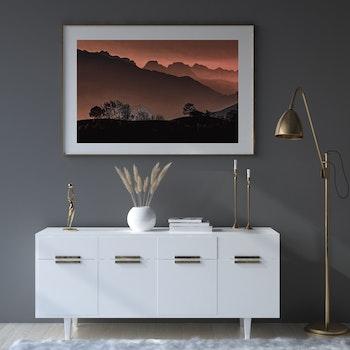 Poster/Konsttryck - Röd dimma