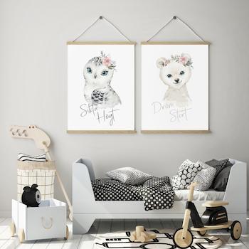 Isbjörn - Dröm stort ( Konsttryck / Poster )
