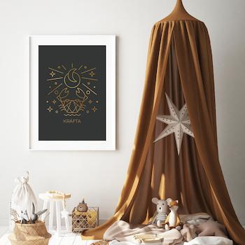 Stjärntecken - Kräfta ( Konsttryck / Poster )