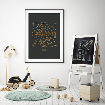 Stjärntecken - Fisk ( Konsttryck / Poster )