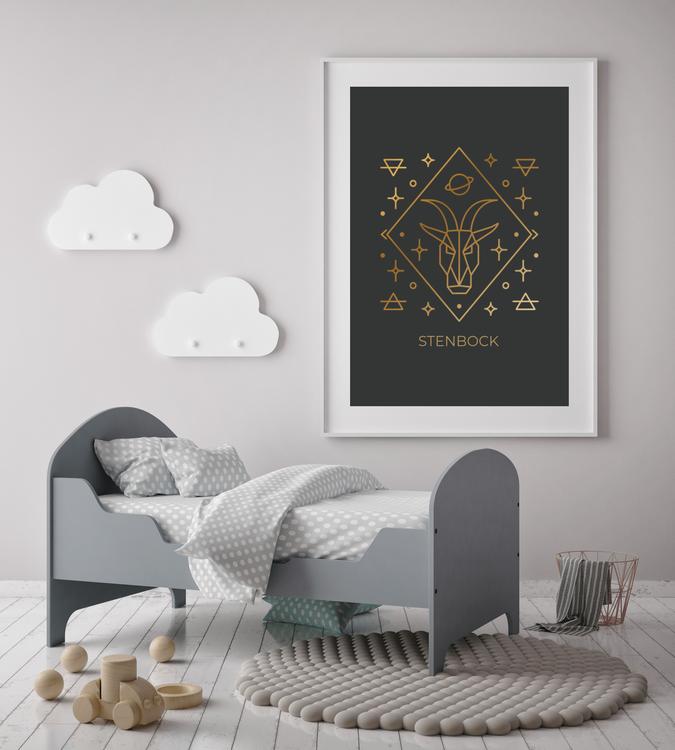Stjärntecken - Stenbock ( Konsttryck / Poster )