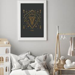 Stjärntecken - Oxe ( Konsttryck / Poster )